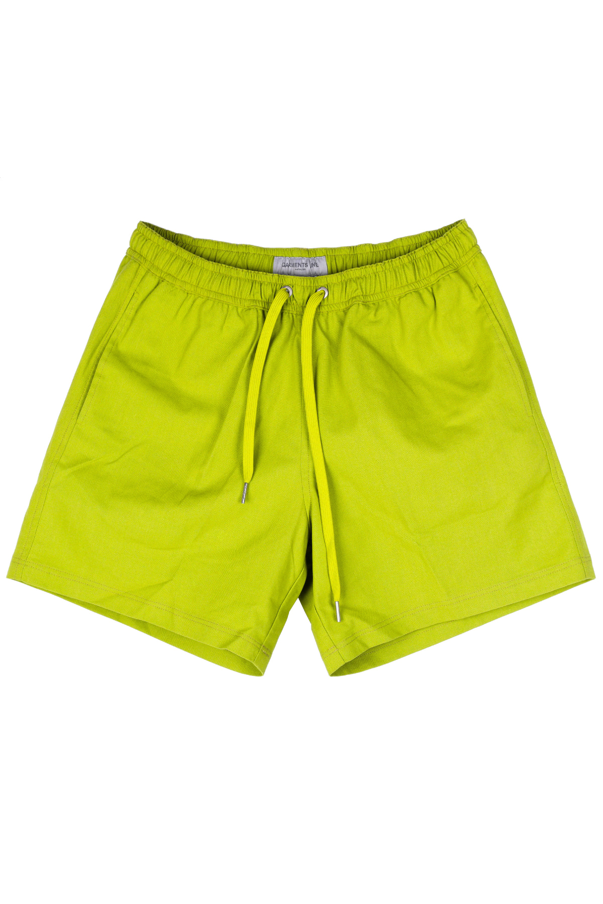 #G008 Linen short pants  (Lime)