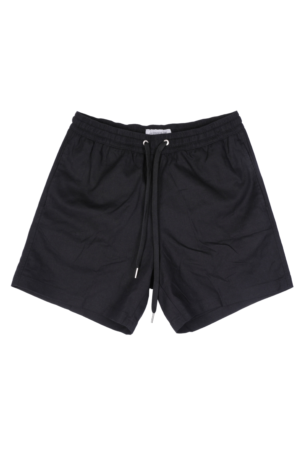 #G005 Linen short pants  (black)