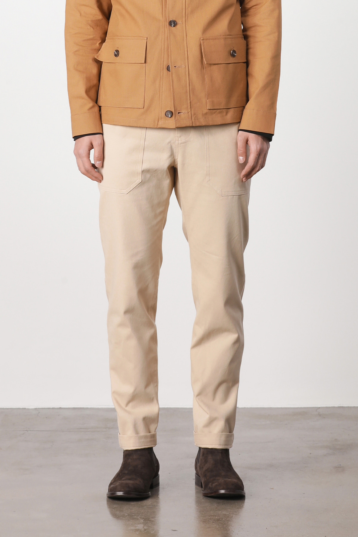 페이탈리즘 #jp09 Fatigue relax cotton pants (beige)