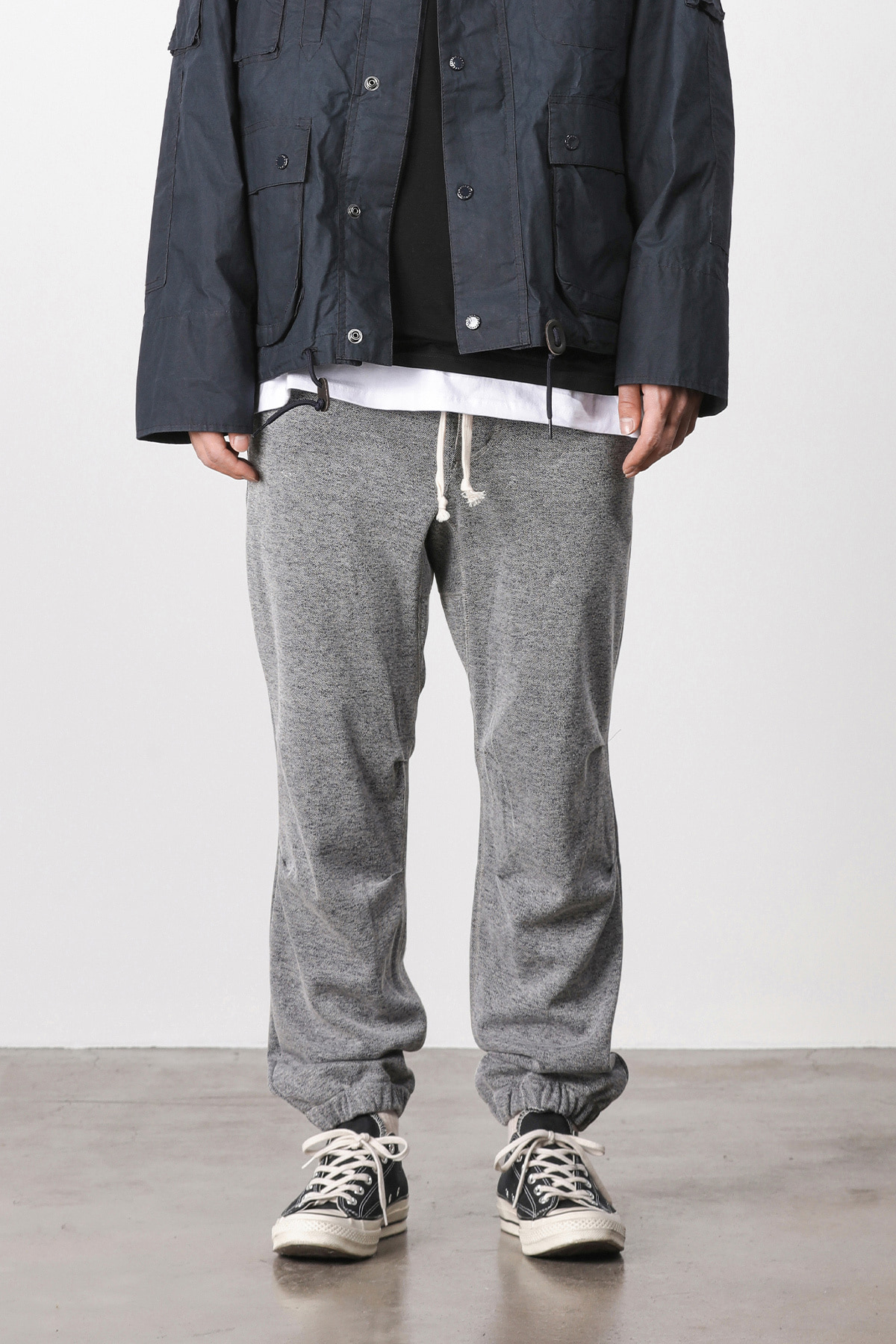 페이탈리즘 #jp15 Melange training jogger pants (navy)