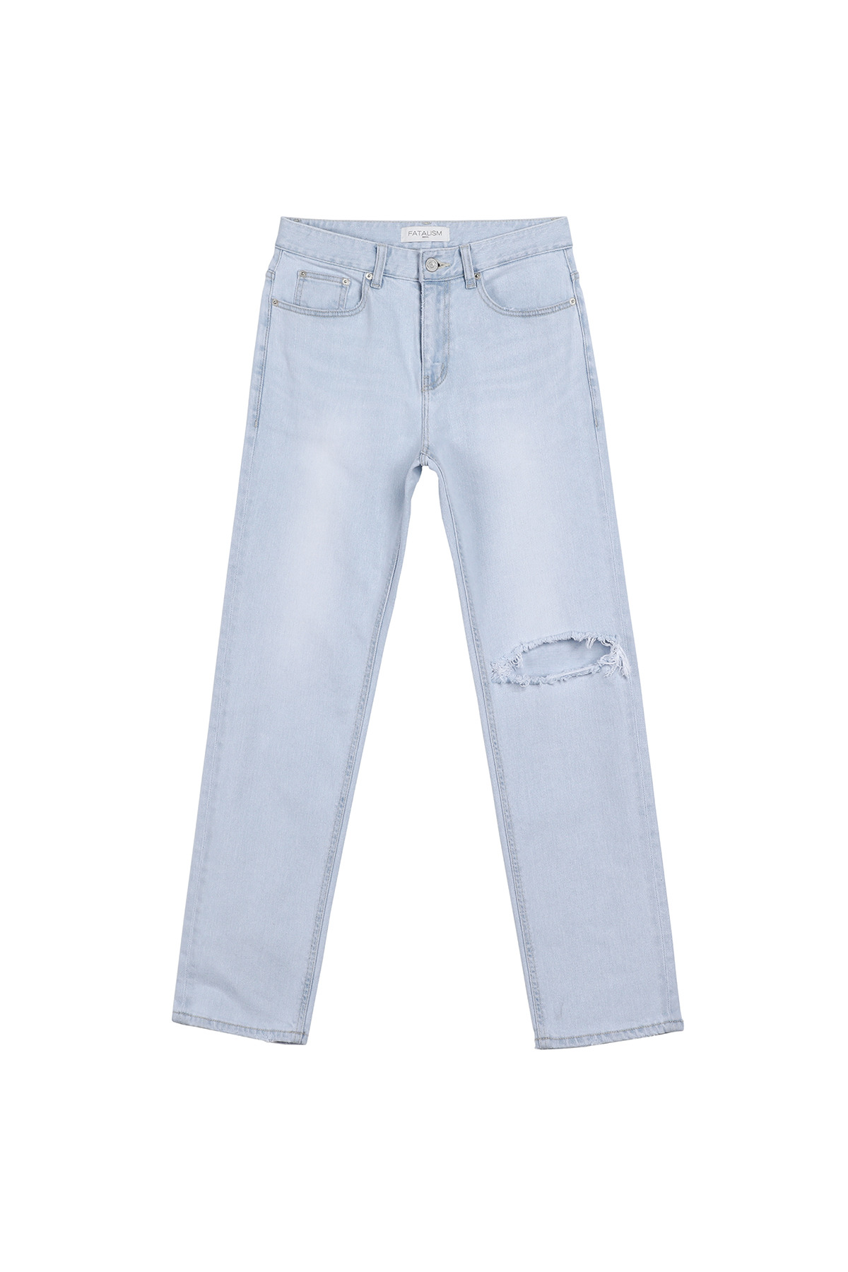 페이탈리즘 #0206 refined ice destroyed straight jeans