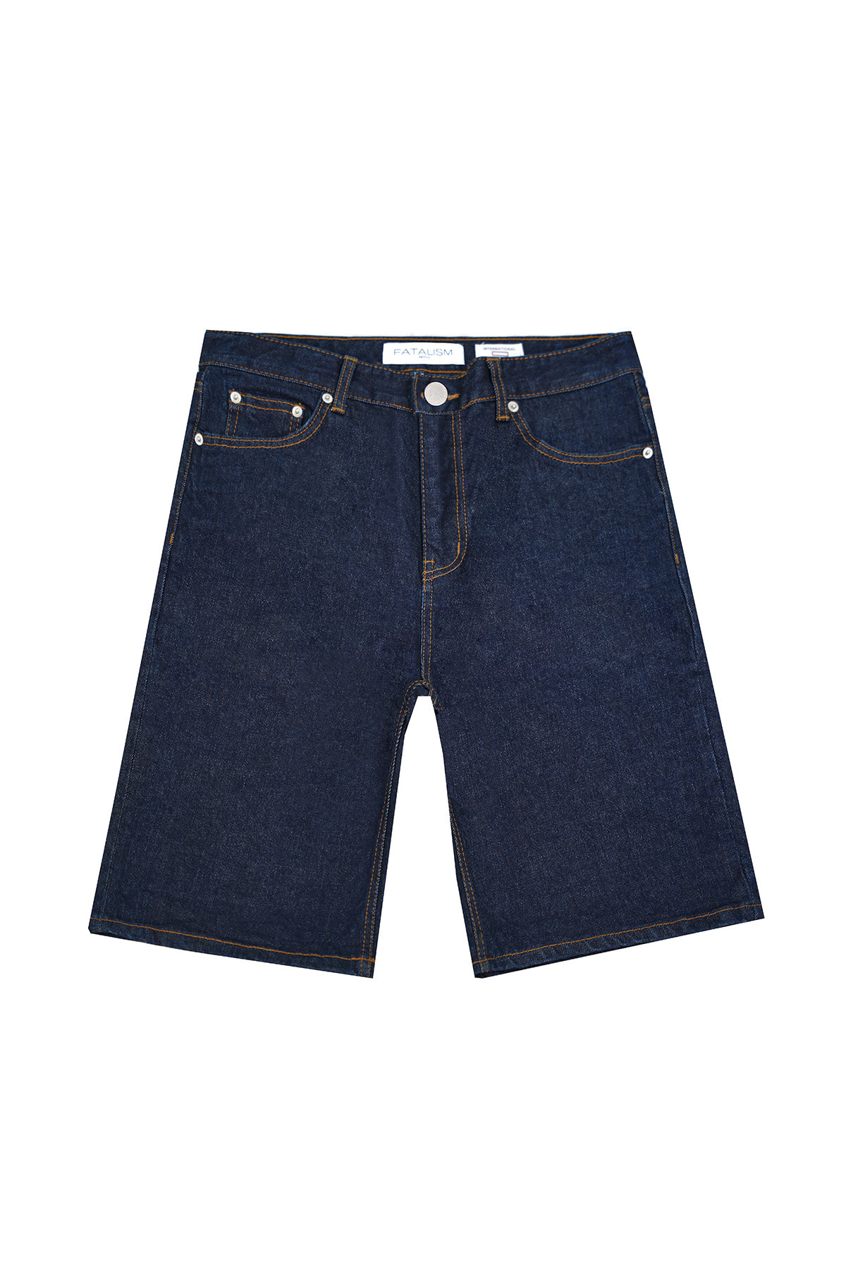#0144 indigo standard short pants