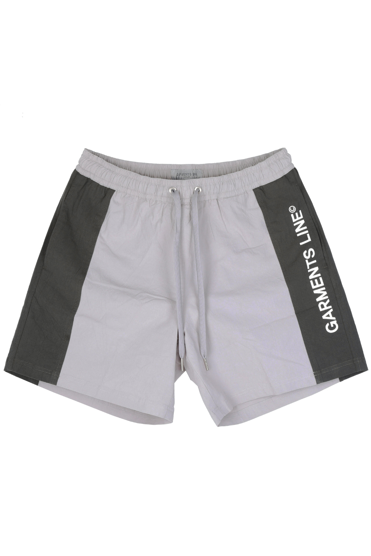 #G009 color combi short pants (charcoal)