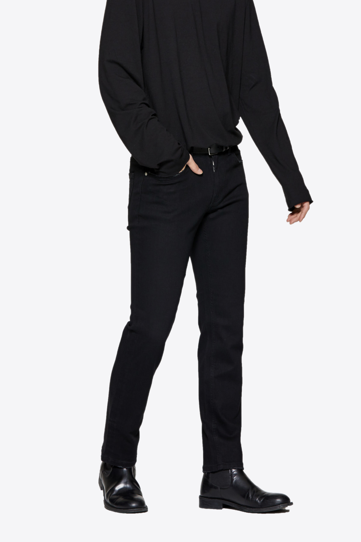 [3/19 예약발송] #0082 black normal crop jeans
