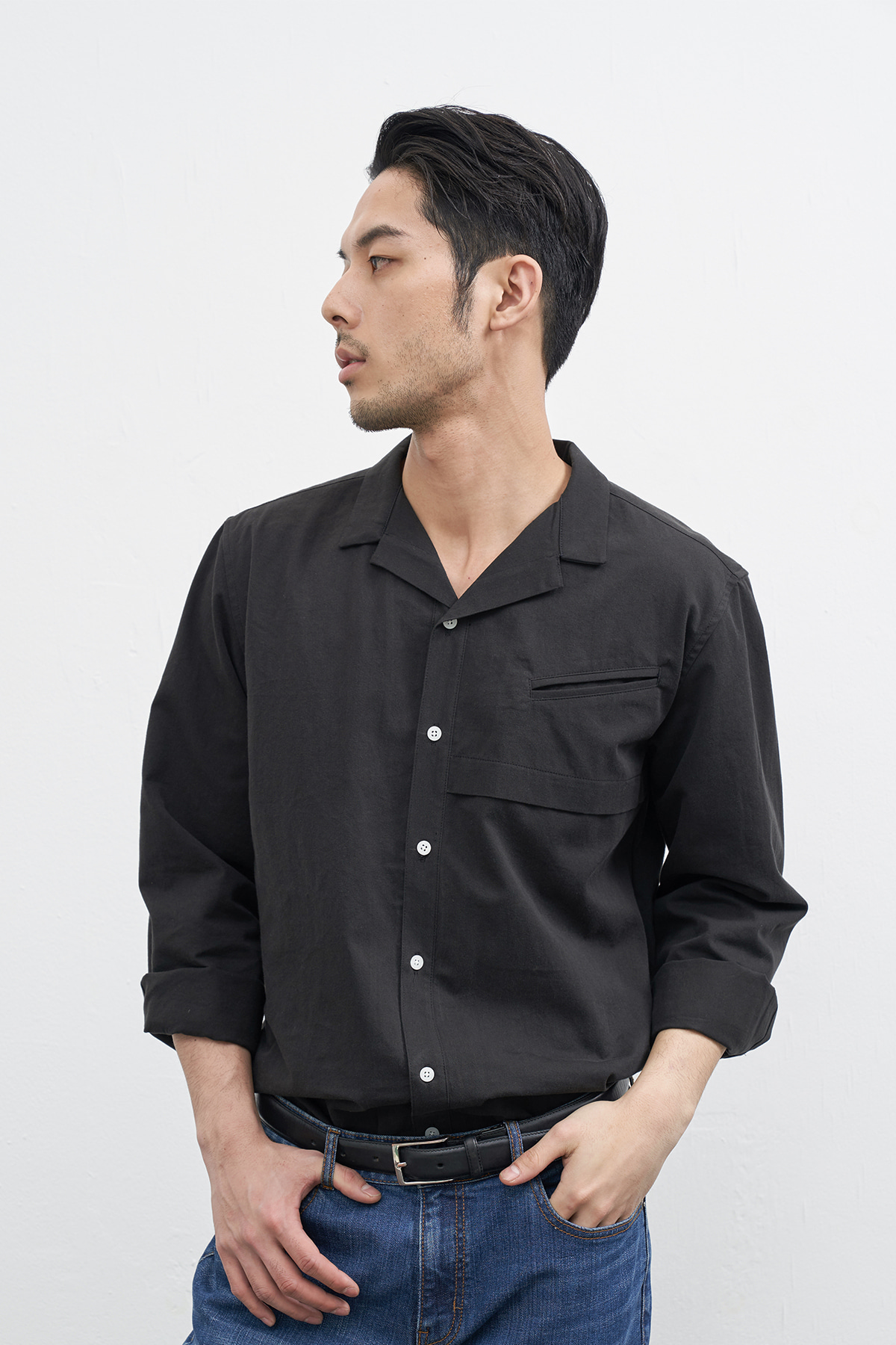[3/5 예약배송] #jpbk13 Ishinomaki wide collar shirt