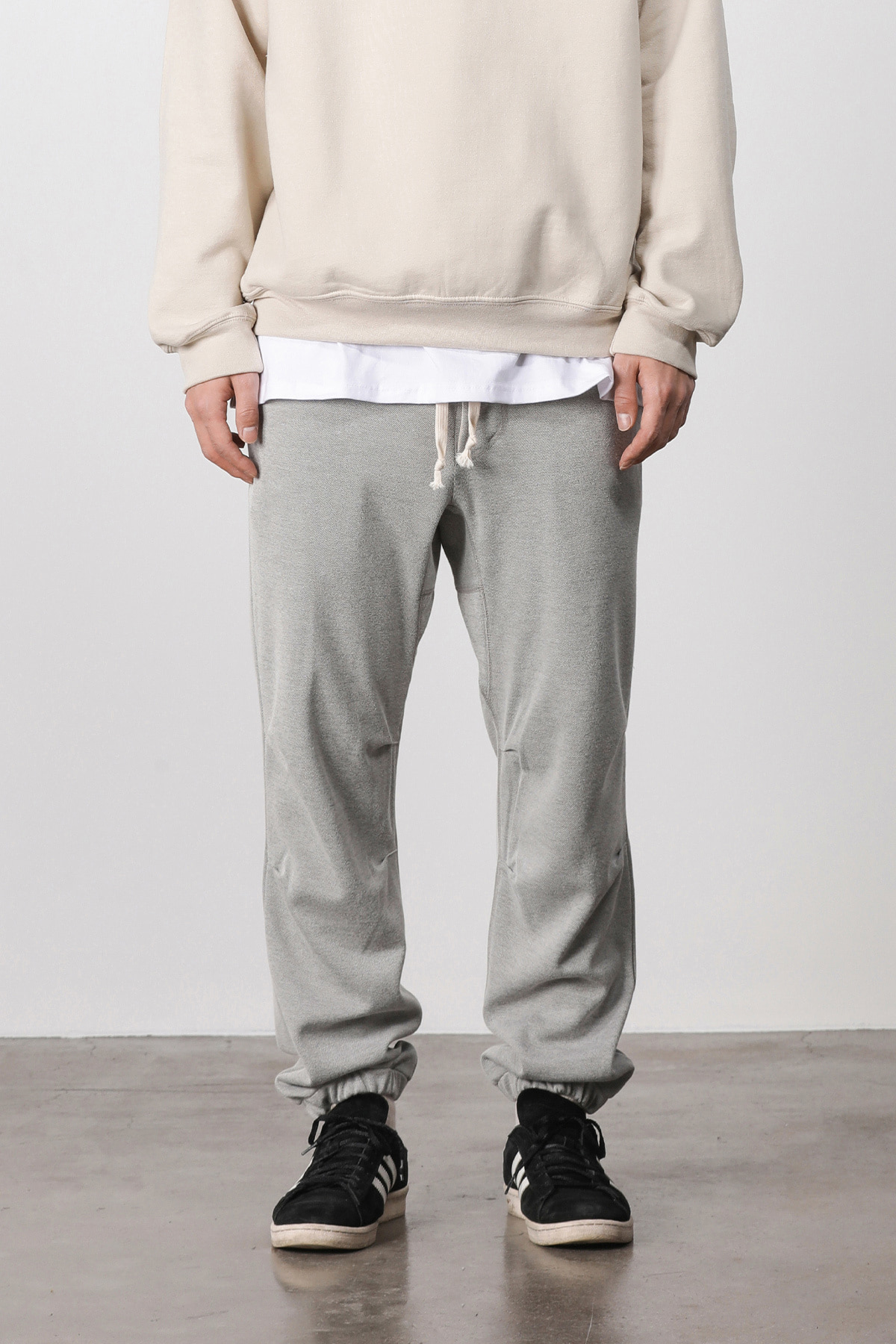페이탈리즘 #jp14 Melange training jogger pants (gray)