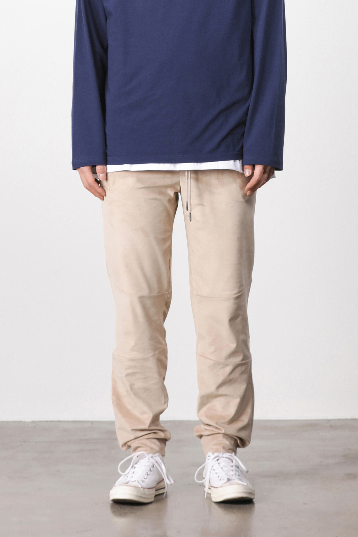 페이탈리즘 #jp05 Suede loose fit pants (beige)