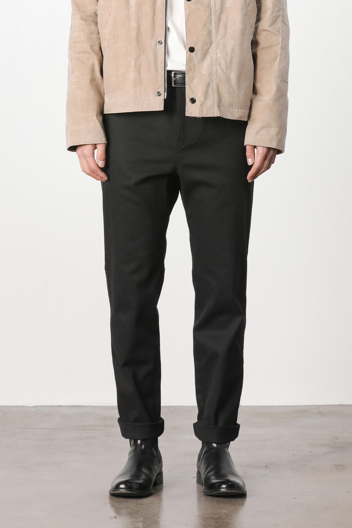페이탈리즘 #jp01 Fatigue hound tapered pants (black)