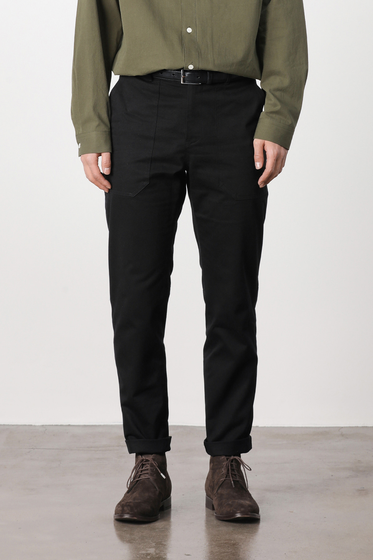 페이탈리즘 #jp07 Fatigue relax cotton pants (black)