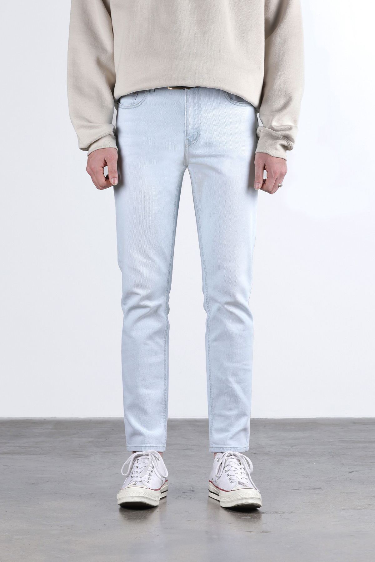 페이탈리즘 #0207 refined ice slim crop jeans