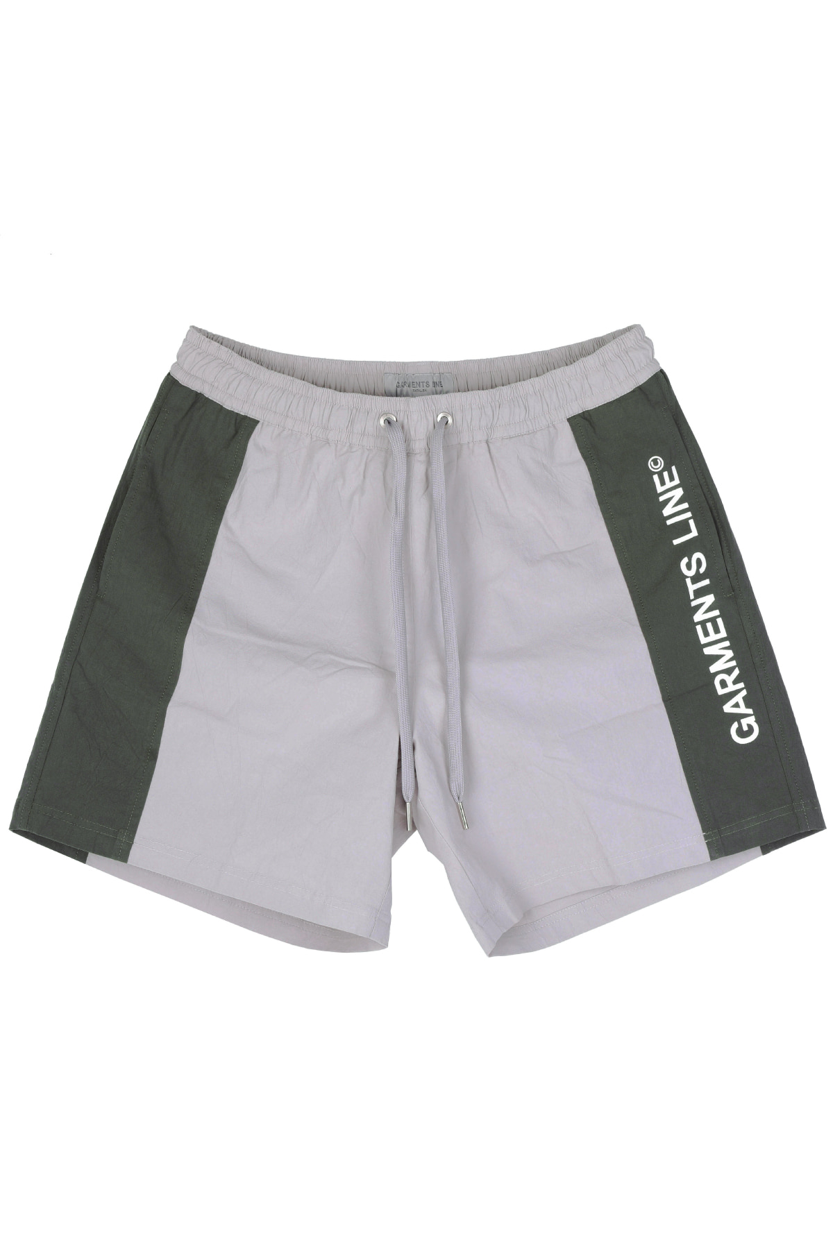 #G010 color combi short pants (khaki)