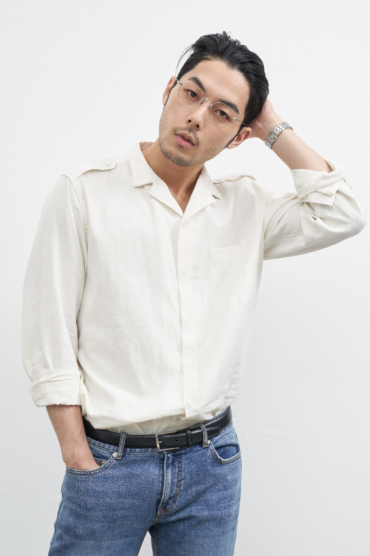 [3/5 예약배송] #jpwh15 Nakama wide collar linen shirt