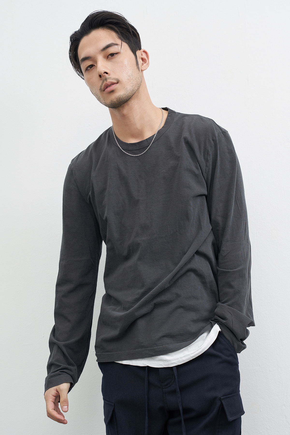 #jpgr11 pigment washing sleeve T-shirt