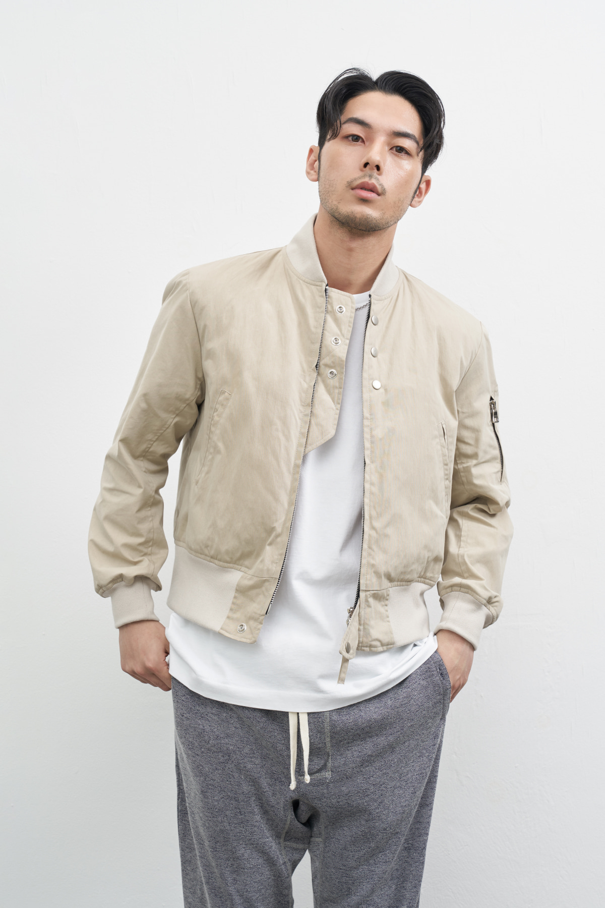 #jpbe08 hioki 3botton bomber jacket